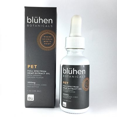 Blühen Botanicals Bluhen Botanicals full spectrum pet tincture oil hemp house for pets salmon flavor
