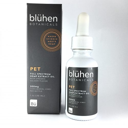 Blühen Botanicals Bluhen Botanicals full spectrum pet tincture oil hemp house for pets salmon flavor