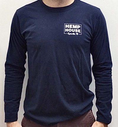 CBD near me Knoxville, TN navy long sleeve t-shirt Hemp House Knoxville