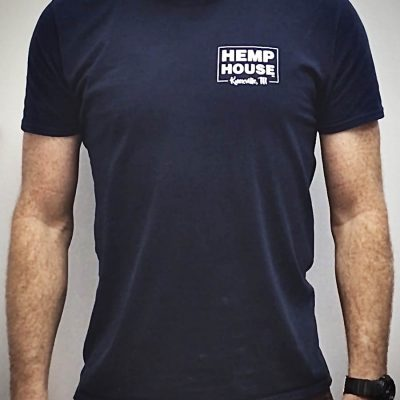 CBD near me Knoxville, TN navy short sleeve t-shirt Hemp House Knoxville