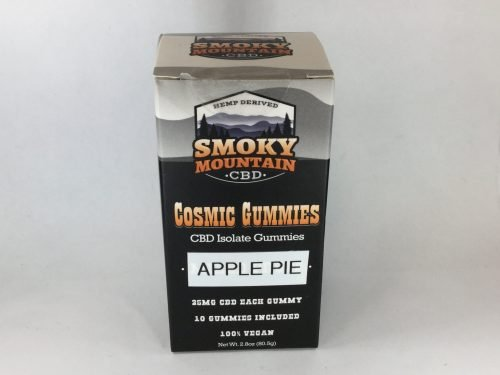 CBD near me Smoky Mountain CBD cosmic gummies apple pie 25mg 250mg per box Hemp House Knoxville Made in Tennessee